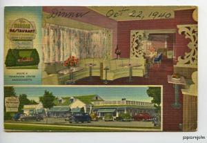 Framingham MA Drive-In Food Old Cars Postcard