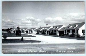 RPPC  ALPENA, Michigan  MI   Siesta Motor Court   Roadside  1948   Postcard