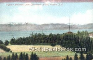 Olympic Mountains, Government House Victoria British Columbia, Canada Unused