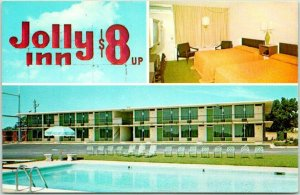 Valdosta, Georgia Postcard THE JOLLY INN MOTEL Interstate 75 Roadside Unused
