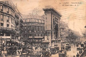 Porte St Denis, Gate Paris France 1929
