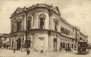 malay malaysia, PENANG, General Post Office, Tram Street Car 1910s Tuck Postcard