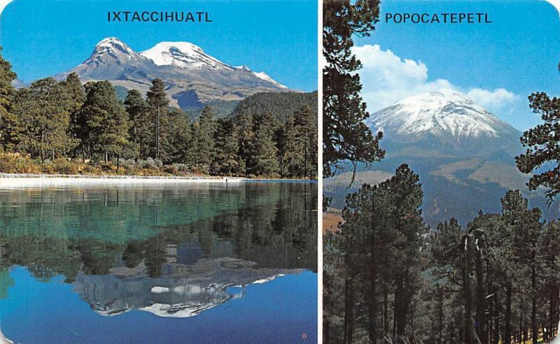 Mexico Itztaccihuatl Popocatepetl Lake Mountain Landscape
