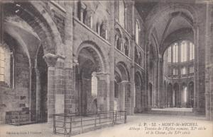 MONT ST. MICHEL, Manche, France, 1900-1910's; Abbaye, Travees De L'Eglise Rom...