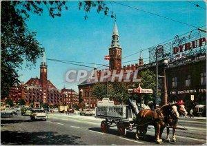 Postcard Modern Copenhagen Townhall Square