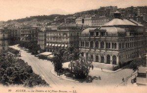 Le Thatre et la Place Bresson,Alger,Algeria