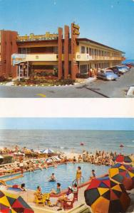 Miami Beach Florida 1950s Postcard Sandy Shores Motel