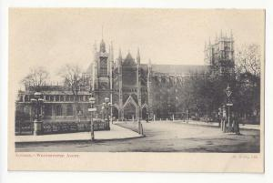 UK England London Westminster Abbey Vtg M & Co Postcard UDB