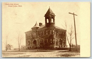 Grand Ledge MI~North Side School~Cape Cod House~Cancer, Heart Then Grippe~1911