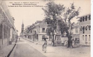 MARTINIQUE: Fort-de-France , Le Haut de la Rue Schoelcher et l'Obelisque , 00...