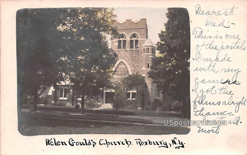 Helen Gould's Church Roxbury NY 1910 Missing Stamp