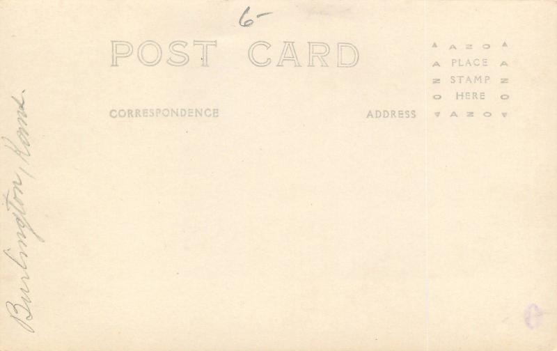 Burlington Kansas~Third & Neosho~Bank & Vintage Cars~Flood March 23 1922~RPPC