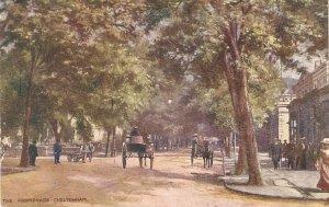 The Promenade. Cheltenham. Horsecartst Tuck mOilette PC # 1673