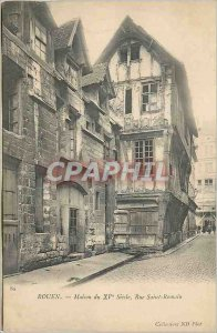 Postcard Old House Rouen fifteenth Century Rue Saint Romain