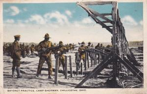 CHILLICOTHE, Ohio, PU-1918; Bayonet Practice, Camp Sherman