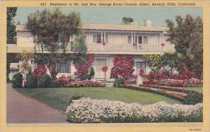 California Beverly Hills Residence Of Mr And Mrs George Burns 1950