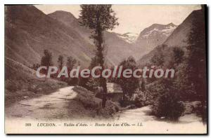 Old Postcard Luchon Vallee D'Asto Route Du Lac D'Oo