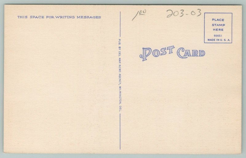 Dover Delaware~State House~1940s Linen Postcard