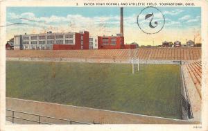 D99/ Sports Stadium Postcard Football Youngstown Ohio Rayen High School 1930