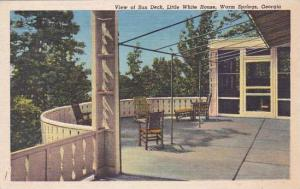Georgia Warm Springs View Of Sun Deck Little Whie House 1961
