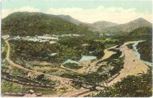 South from Contractor Hill, 1885 when French Started to Build the Canal, Panama