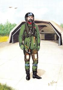 RAF Art Postcard Aircrew Clothing 1918-1988, 1980s The Falklands & Beyond #12-6