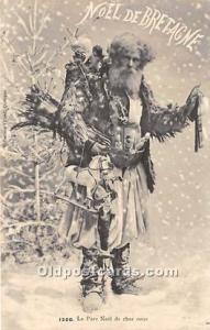 Santa Claus Postcard Old Vintage Christmas Post Card Real Photo 1908