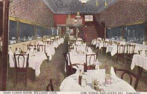 TORONTO, Ontario, Canada, PU-1910; Main Lunch Room, Williams' Caffe