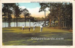 Old Vintage Golf Postcard Post Card Seventh Green, Truxtun Manor Golf Course ...