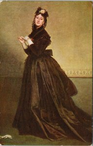 Carolus-Duran Lady With A Glove Woman Portrait Unused Postcard F36