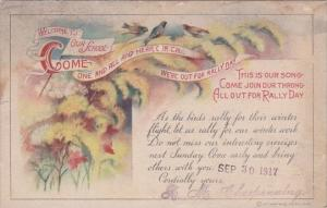 Rally Day Welcome To Our School 30 September 1917