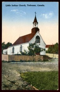 dc1178 - TADOUSAC Quebec Postcard 1920s Little Indian Church by Bourgoing