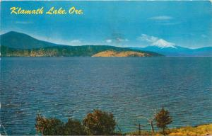 Klamath Falls, Oregon, OR, Upper Klamath Lake, 1961 Vintage Postcard PC a8401