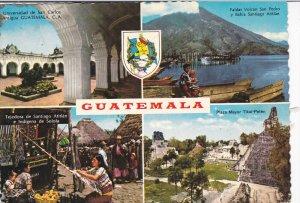 4-view postcard , GUATEMALA , 1950s