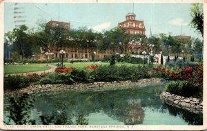New York Saratoga Springs Grand Union Hotel and Village Park Detroit Publishing