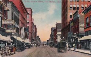 Iowa Des Moines Walnut Street 1914