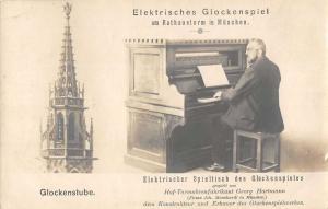 Munich Germany Rathausturm Glockenspiel Glockenstube Real Photo Postcard J48925