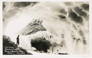 Ice Caves Paradise Glacier Rainier National Park WA Ellis 560 RPPC Postcard E9