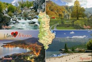 ALBANIA: SPLIT-VIEW & MAP (Valbona/Thethi/Saranda/Pogradeci)