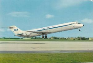 SAS Super DC-9 Jetliner Airplane , 60-80s ;  Commercial Issue