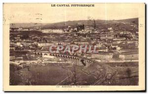 Old Postcard Picturesque Cantal Aurillac General view