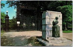 Entrance to Public Gardens Park, Halifax Nova Scotia Vintage Postcard I04