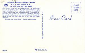 NY - Lake George. Colonial Manor Resort & Motel