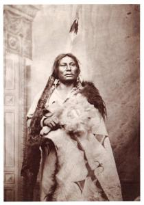 Postcard Gall, Pizi, Hunkpapa Sioux American Indian Chief c1881 #296