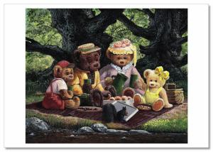 TEDDY BEAR CORNER Toys Life Art for Child by J. Bindon Russian Modern Postcard