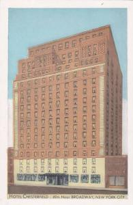 Hotel Chesterfield, 49th Street just East of Broadway, New York City, 10-20s