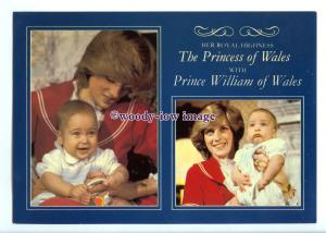 er0080 - Princess of Wales with her Firstborn, Prince William in 1982 - postcard