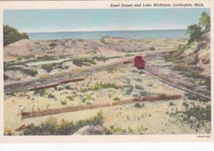 Michigan Ludington Sand Dunes and Lake Michigan Curteich