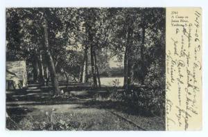 UND/B of A Camp on James River Yankton South Dakota SD 1906