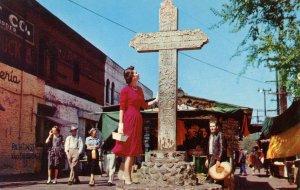 CA - Los Angeles. Olvera Street Historical Cross